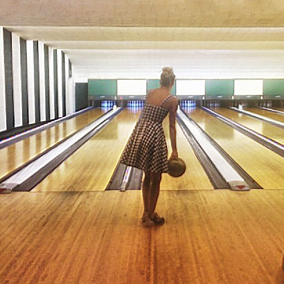 Reese Witherspoon bowling at The Greenbrier
