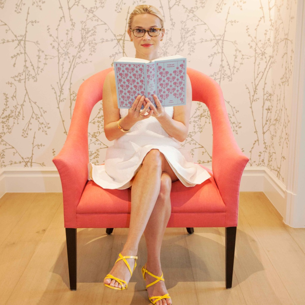 Reese Witherspoon enjoying a favorite book