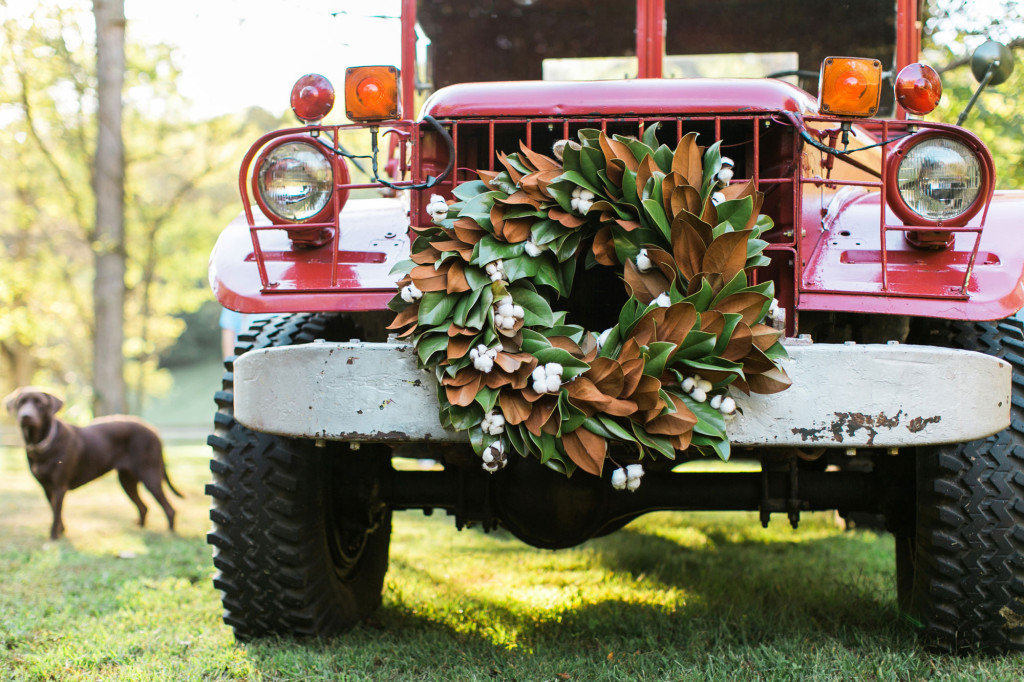 Wreath on a Truck