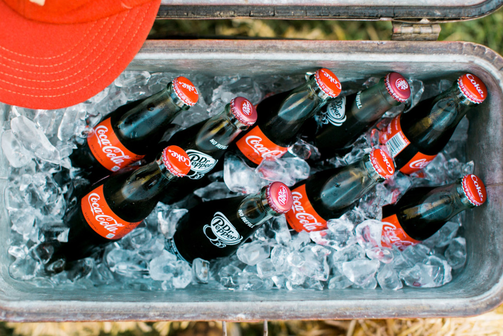 Cooler of Coca Cola