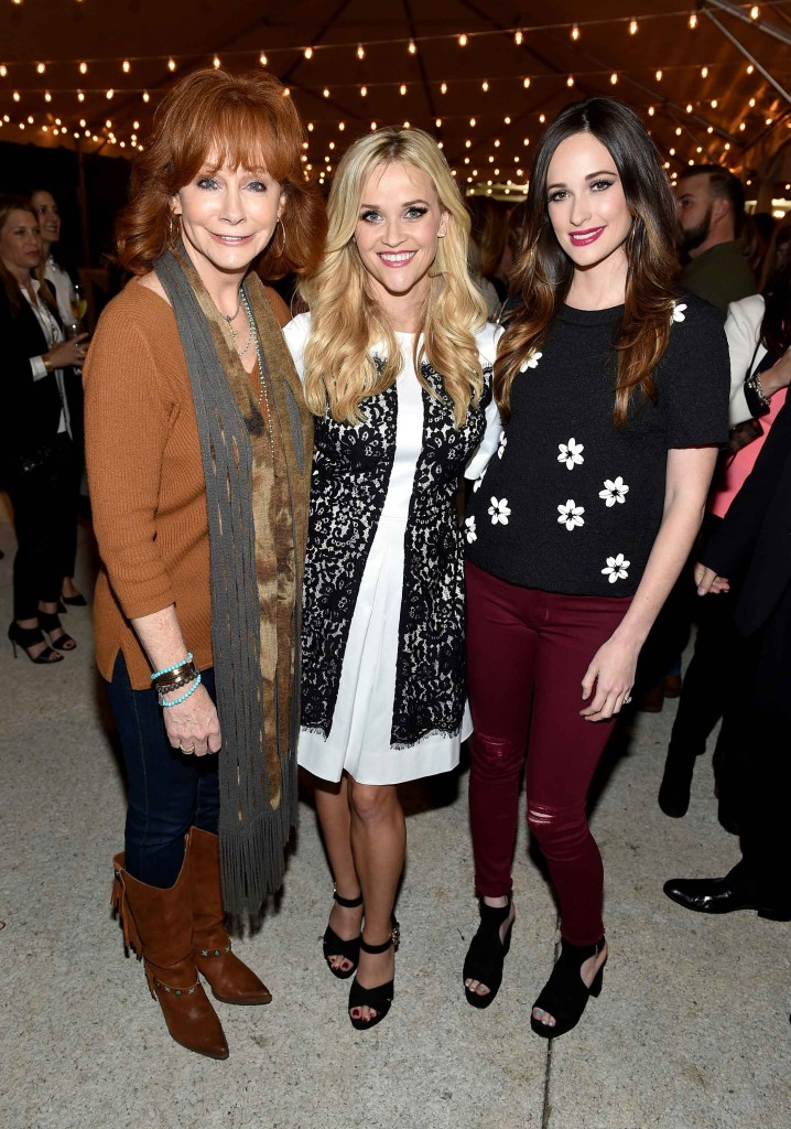Reba McEntire, Reese Witherspoon, and Kacey Musgraves