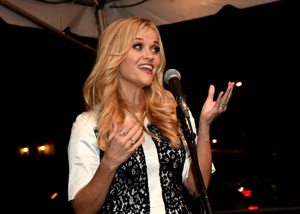 Reese Witherspoon thanks guests at Draper James grand opening party