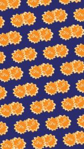 pompom_orange_white