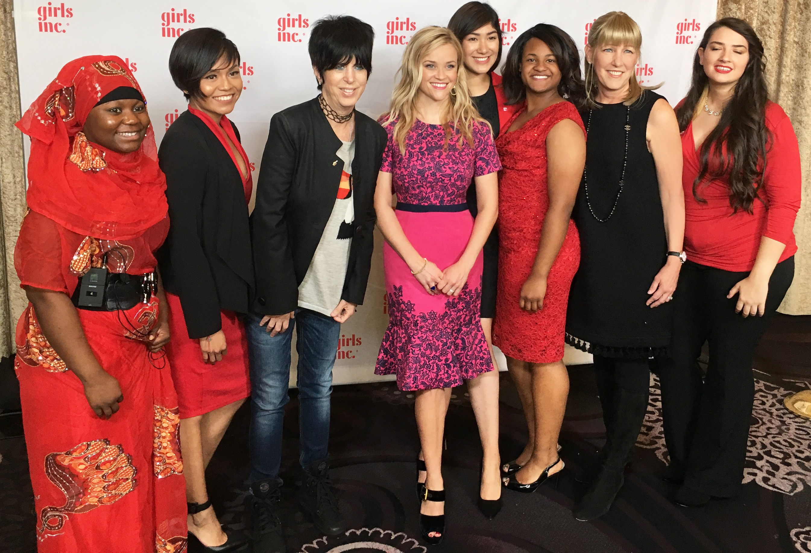 Reese wore a limited edition dress created with the Girls Inc. luncheon in mind. We made a few extra—you can find it here!
