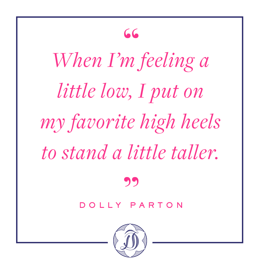 Dolly Parton quotes about high heels