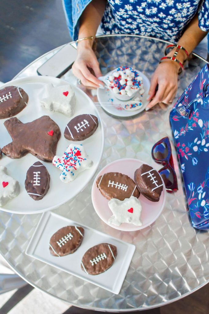 Super Bowl party Carrie Colbert