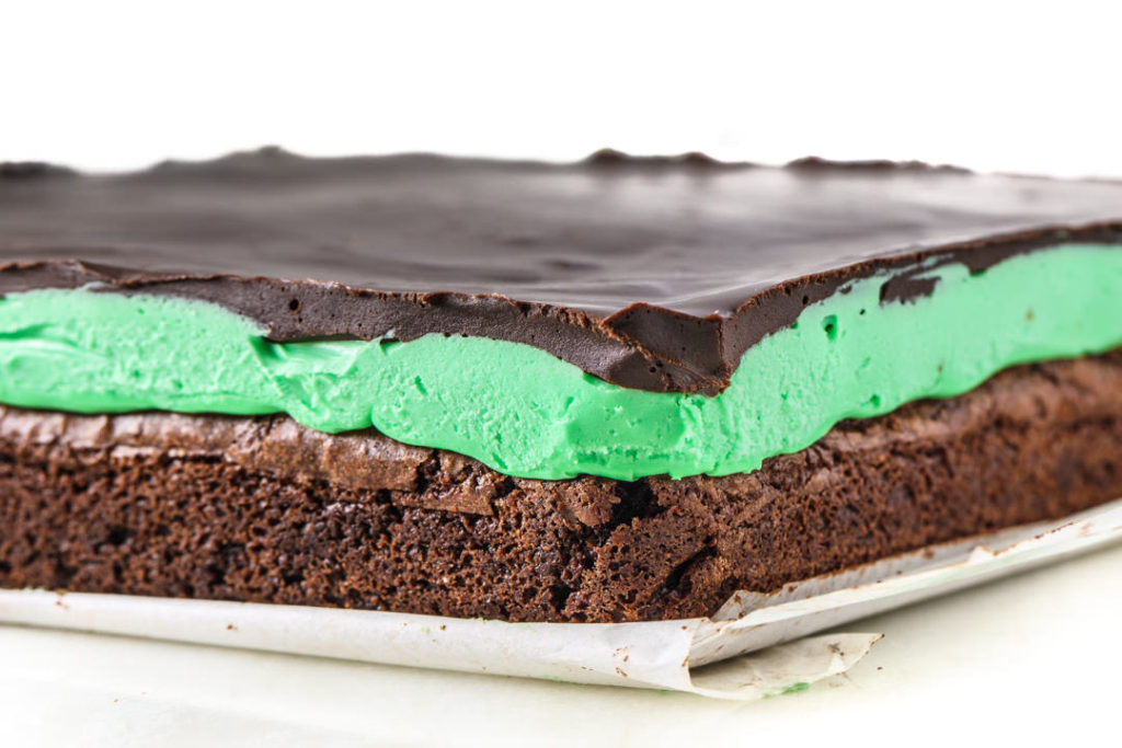 Mint Ganache Brownies