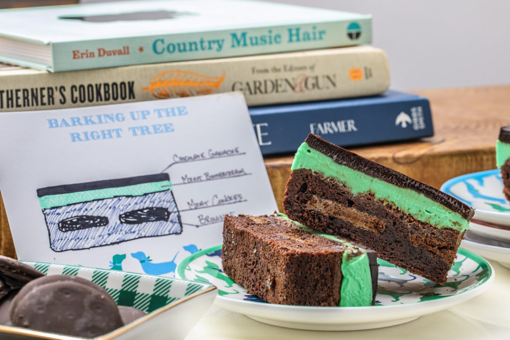 Mint Ganache Brownies