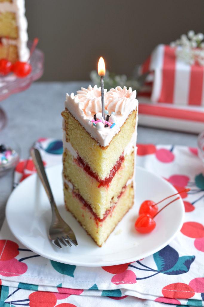 Reese's Cherry Birthday Cake