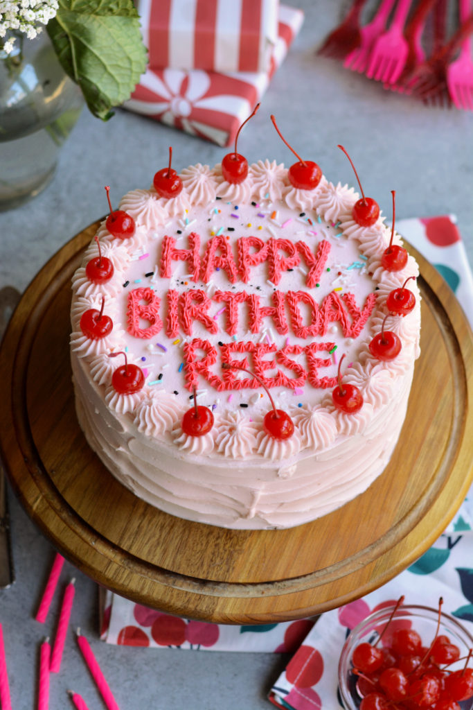 Reese's Cherry Birthday Cake
