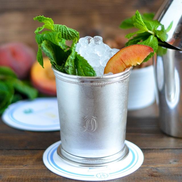 Peach Mint Julep and Bourbon Vanilla Candied Pecans RecipeDraper James ...