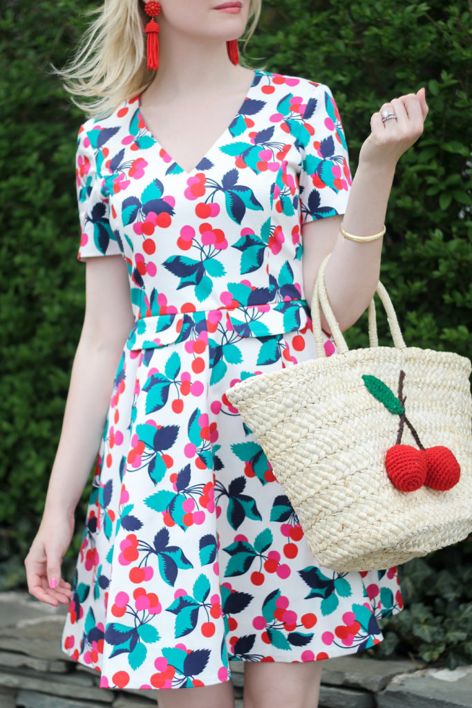 how to wear a cherry print