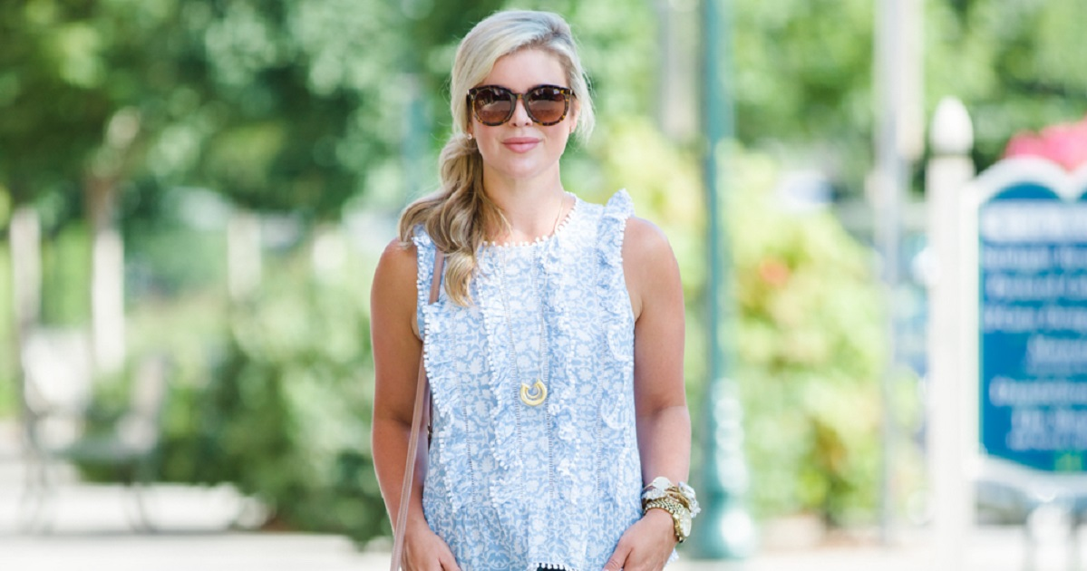 Ruffles And Summer Blues With The Southern Style