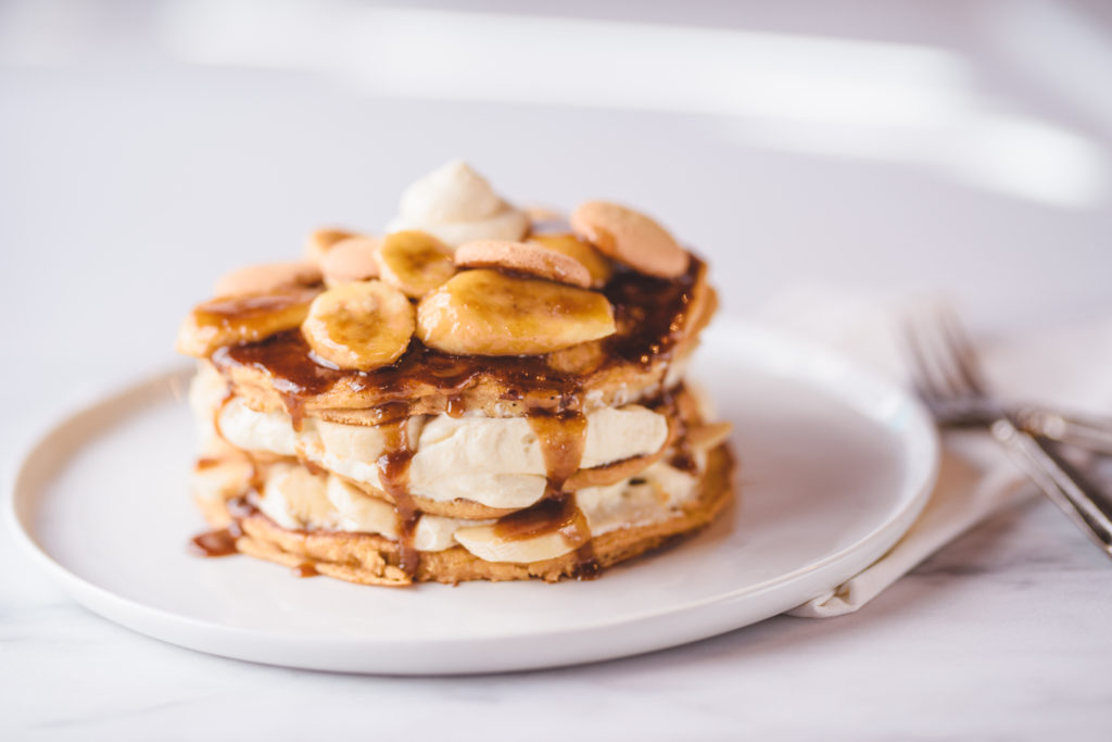 Banana Pudding Layered Pancakes