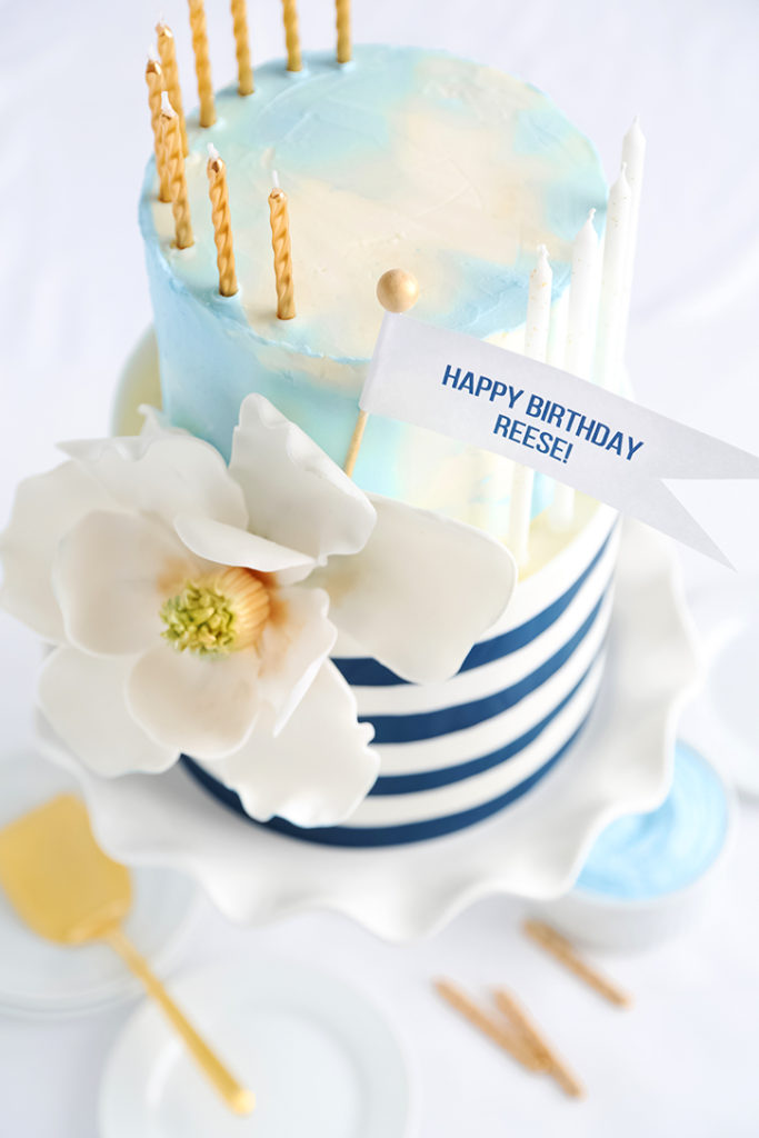Reeses Draper James Inspired Birthday Cake From Sprinkle